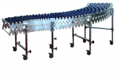 DH - extensible conveyors, plastic skate wheels Gravity conveyors