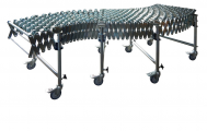 DH - extensible conveyors, steel skate wheels Gravity conveyors