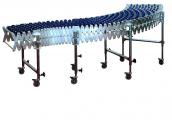 Roztažitelné dopravníky DH - plastové kladičky Nepoháněné gravitační dopravníky
