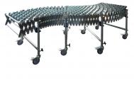 roztažitelné dopravníky DH - ocelové kladičky Nepoháněné gravitační dopravníky